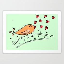 In love ... Art Print