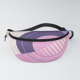 Modern geometric composition pink and blue Fanny Pack