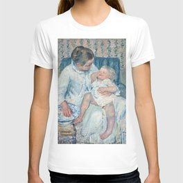 Mary Cassatt - Mother About to Wash Her Sleepy Child T-shirt