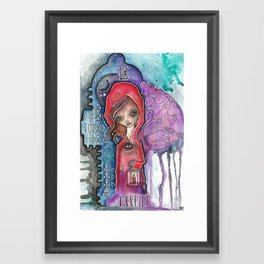 The Hermit - Tarot Inspired Watercolor Framed Art Print