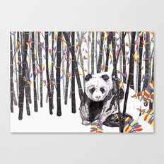 Panda Bear // Endangered Animals Canvas Print