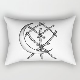 Crescent Moon Rune Binding Rectangular Pillow