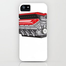 Cylinder capacity Turbo Schrauber V 6 8 12 Gift iPhone Case