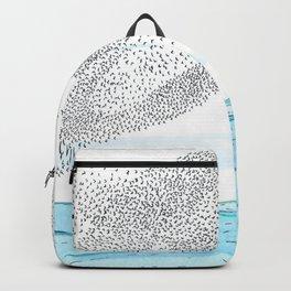 Seaside Murmuration Watercolor Backpack