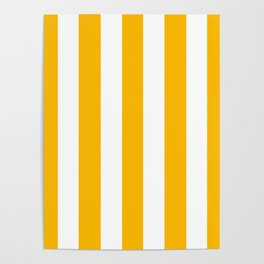 Microsoft yellow - solid color - white vertical lines pattern Poster
