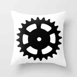 Cog and Roll Throw Pillow
