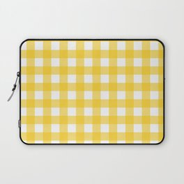 White & Yellow Gingham Pattern Laptop Sleeve