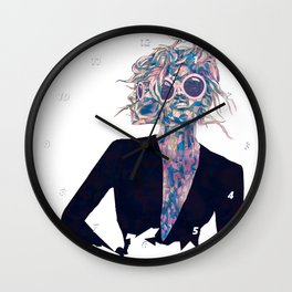 Pastel Light Four Eyes Wall Clock
