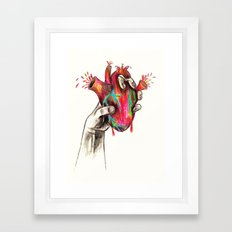 Zombie Heart Design by Colleen Trillow Framed Art Print
