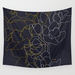 Pure poetry and some flowers Wall Tapestry