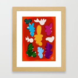 Comme les gouaches Framed Art Print