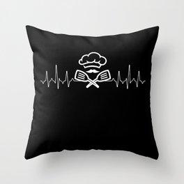 Cook Heartbeat Throw Pillow