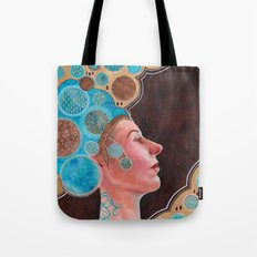 Queen in Gold and Teal Tote Bag