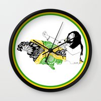 jamaica Wall Clocks featuring Jamaica -  Freedom Time by Art & Be