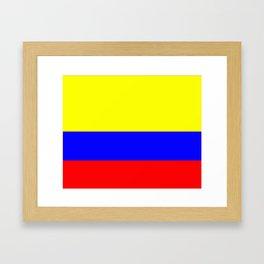 Flag of Colombia Framed Art Print