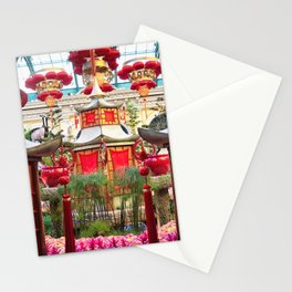 Chinese New Year decorations at Bellagio, Las Vegas Stationery Cards