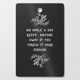 An Apple A Day BW Cutting Board
