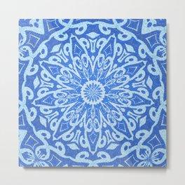 Elegant Moroccan Tile Mosaic Mandala Metal Print