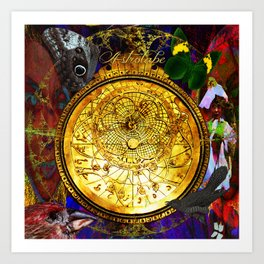Astrolabe Our Place in the Universe Art Print