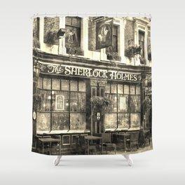 The Sherlock Holmes pub Vintage Shower Curtain