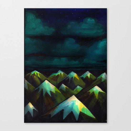 Night Mountains.  Canvas Print