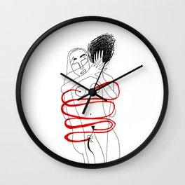 Transparent Hug Wall Clock