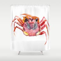 crab Shower Curtains featuring Crab by SurenArt