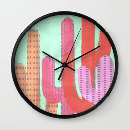 Funny Cactus Jungle Wall Clock