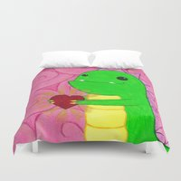 chuck Duvet Covers featuring Chuck by infiniteamethyst