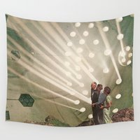 bands Wall Tapestries featuring the light pours out of me by Jesse Treece