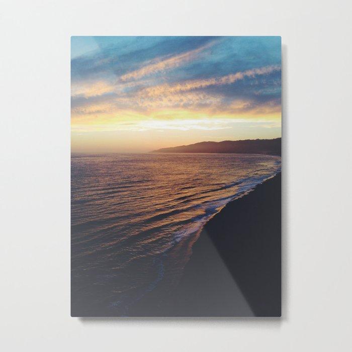 Point Dume Sunset Metal Print