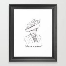 Dowager Countess of Grantham Framed Art Print