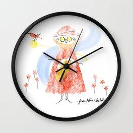 Summer Knitter Wall Clock