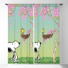 Woodstock in the Cherry Blossoms Blackout Curtain