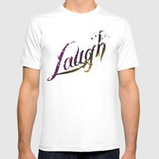 Laugh MEDIUM White Mens Fitted Tee