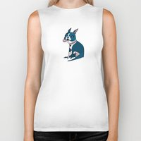 boston terrier Biker Tanks featuring Boston Terrier by breakfastjones