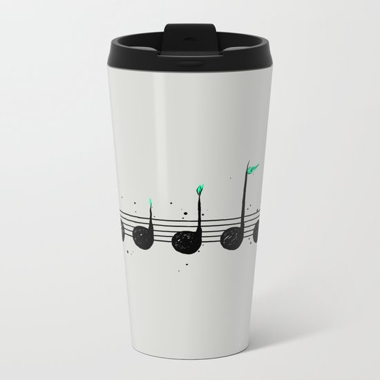 Biosphere Orchestra Gray Metal Travel Mug