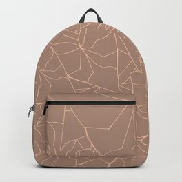Neutral Modern Tropical Leaf Outline Illustration Backpack