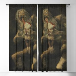 Saturn Devouring his Son - Francisco Goya Blackout Curtain