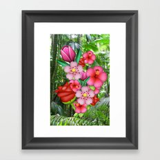 Flower Emoji Framed Art Print