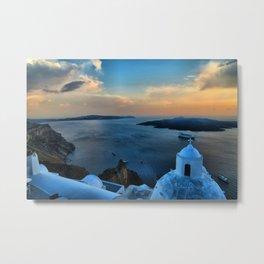 Santorini 10 Metal Print