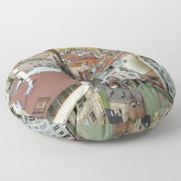 Life goes on in Constantinople - Istanbul cityscape photography Floor Pillow