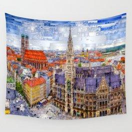 Munich Cityscape Wall Tapestry