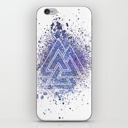 Viking Valknut Space Dust iPhone Skin