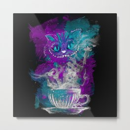 Chesire's tea Metal Print