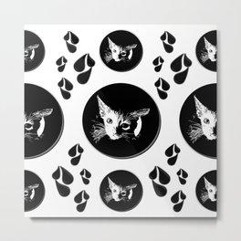 Wet Kitten Pattern Metal Print