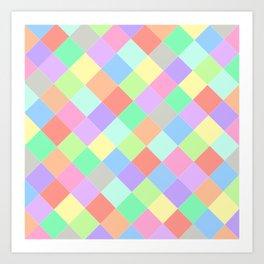 Coloured Squares Art Print