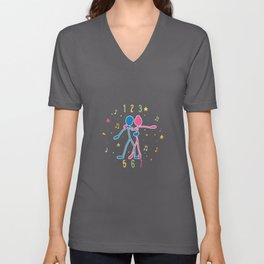 Salsa Cuban Rhythm 123 456 Gift Idea Design Unisex V-Neck
