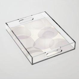 """Soft abstract shapes, """"Valeria"""" Acrylic Tray"""