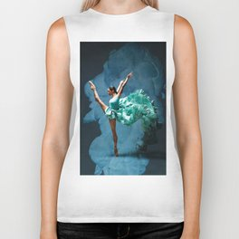 -O1- Blue Ballet Dancer Deep Feelings. Biker Tank